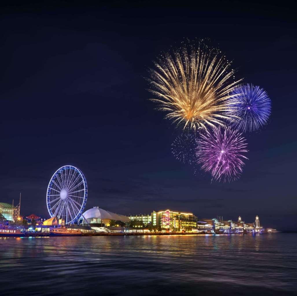 navy pier kicks off its centennial celebration with new ferris wheel