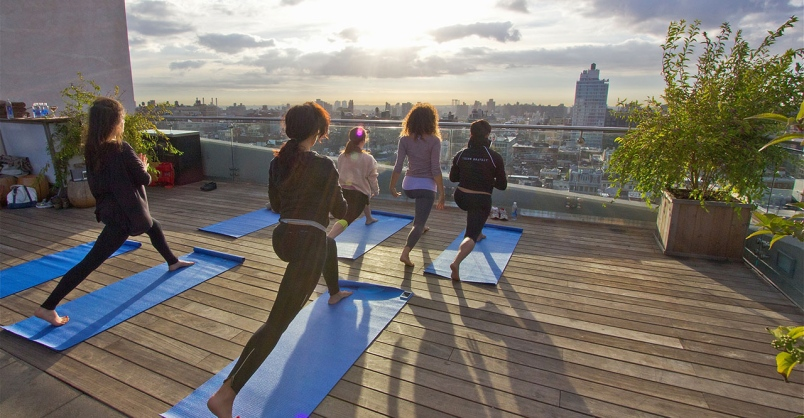 rooftop yoga nyc