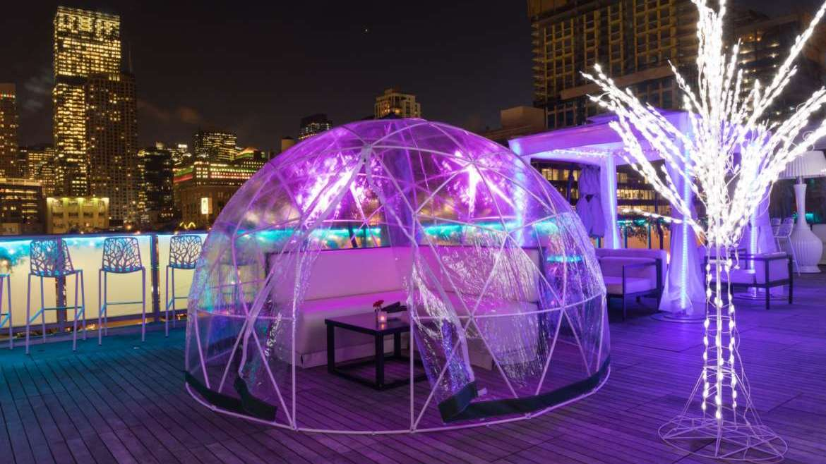 The Godfrey's Rooftop Gets Igloo Lounges in Chicago