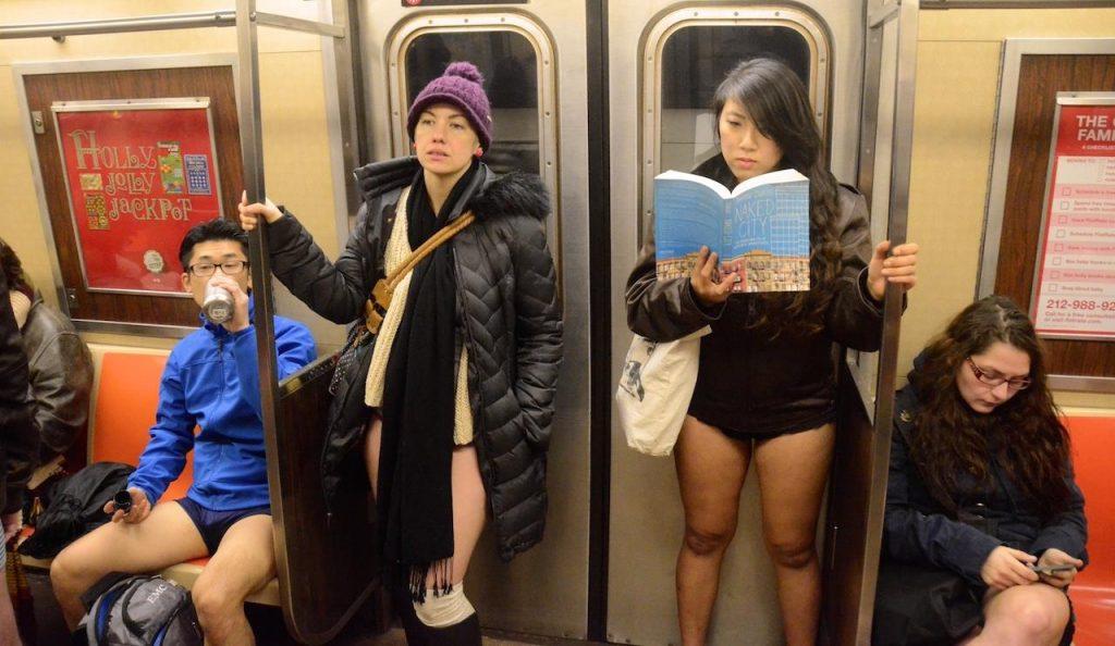 No Pants Subway Ride