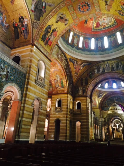 Mosaics cover the inside of the Cathedral Basilica of Saint Louis.