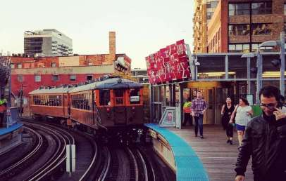 vintage train cars CTA