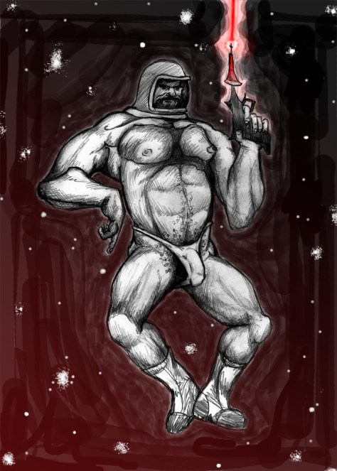 Spaceman in a Speedo