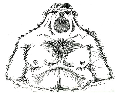 wet bear sketch