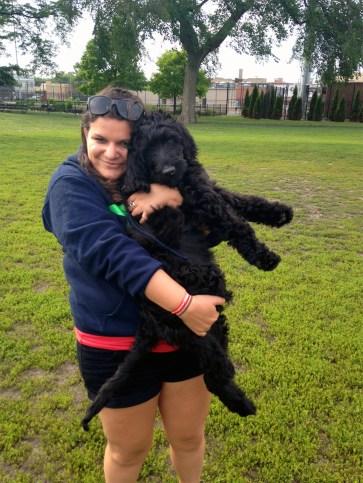 Reba's new puppy, Riggins