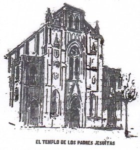 "The Temple of the Jesuit fathers. Illustration of the newspaper ""La Voz de Galicia"""