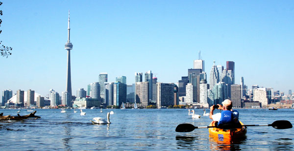 Urban Paddlers on Lake Ontario