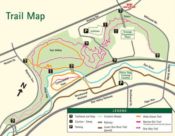 Crothers Woods trail map