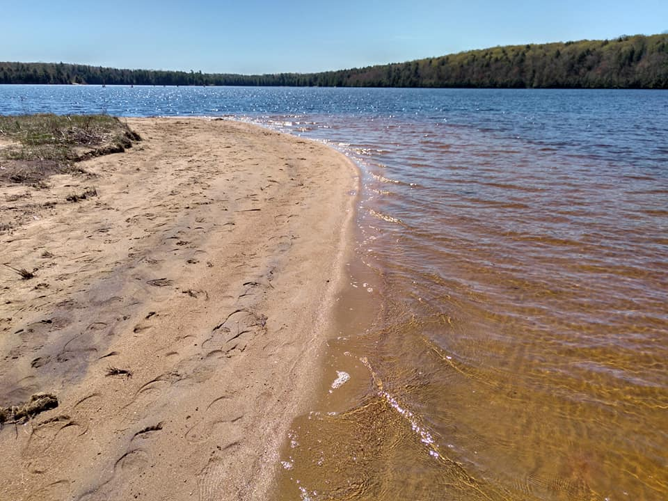 Sandy beach on Bottle Lake
