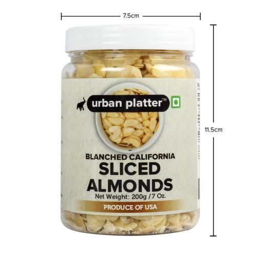 Urban Platter Sliced Blanched California Almonds, 200g
