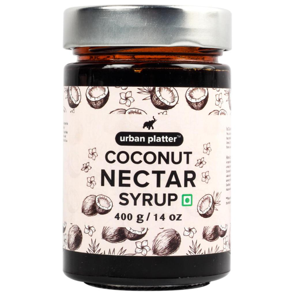 Urban Platter Coconut Nectar Syrup, 400g [All Natural, Gluten-free, Low-GI Sweetener]