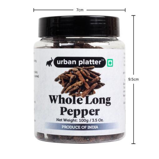 Urban Platter Whole Long Pepper (Pippali), 100g / 3.5oz [Jumbo Sized, Premium Quality, Aromatic]