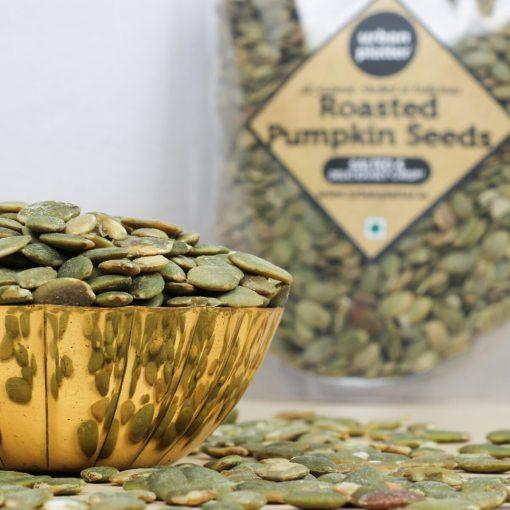Urban Platter Roasted Salted Pumpkin Seeds, 250g [Heart-healthy, Gluten-free, Healthy Snack]
