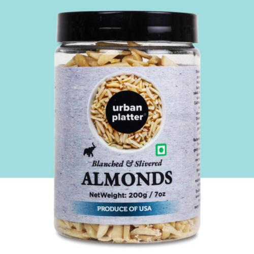 Urban Platter Blanched Slivered California Almonds, 200g