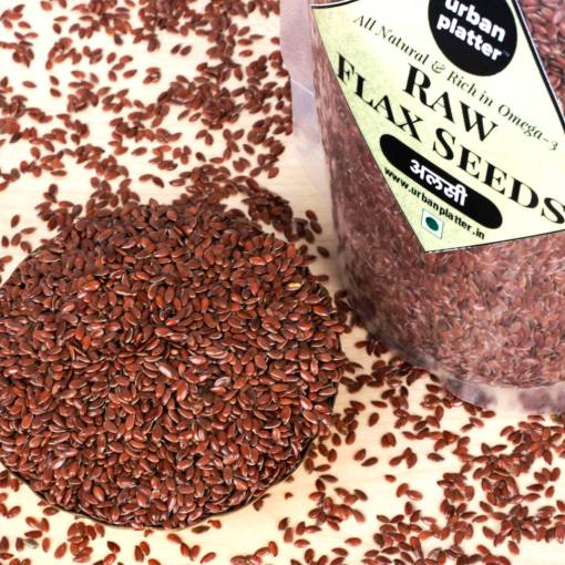 Urban Platter Flax Seeds, 400g [Raw, Rich in Omega-3, Heart-healthy]