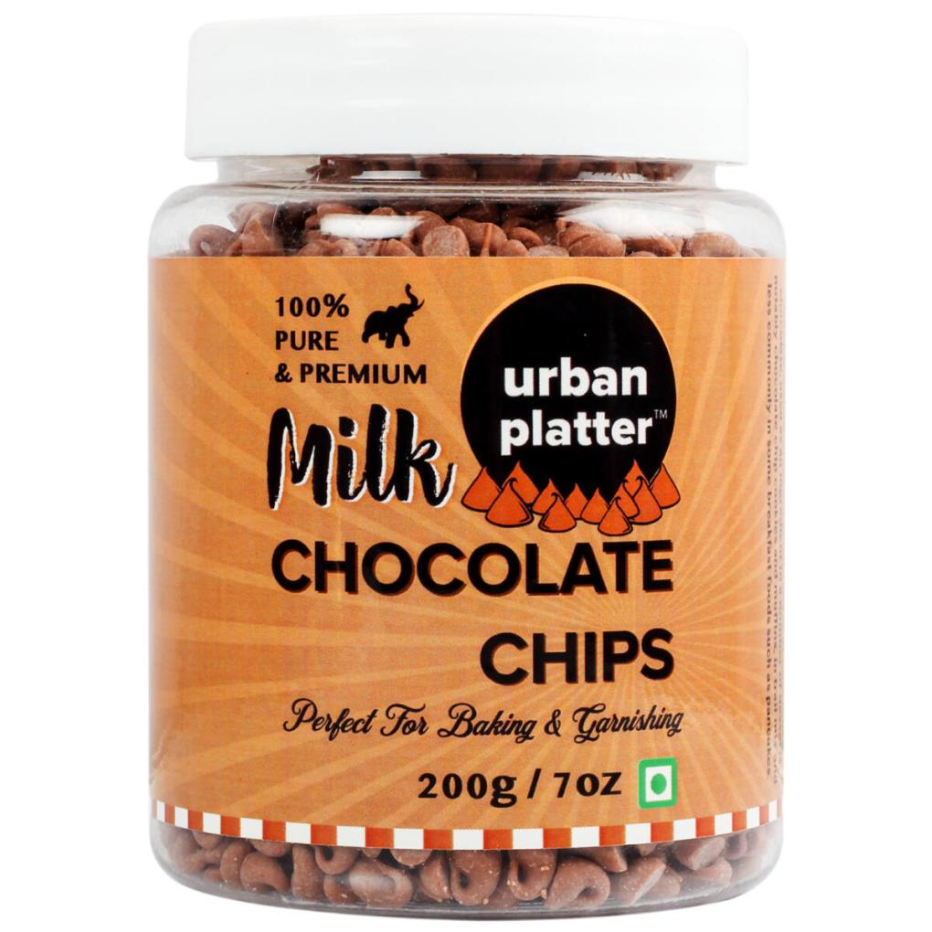 Urban Platter Milk Chocolate Chips, 200g