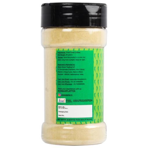 Urban Platter Dehydrated Green Chilly Powder Shaker Jar, 80g