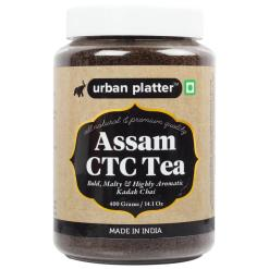 Urban Platter Kadak Assam CTC Tea, 400g Jar [Malty, Bold & Aromatic]