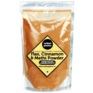 Urban Platter Flax, Cinnamon & Methi Powder, 250g [All Natural, Heart-friendly, Detoxifying]