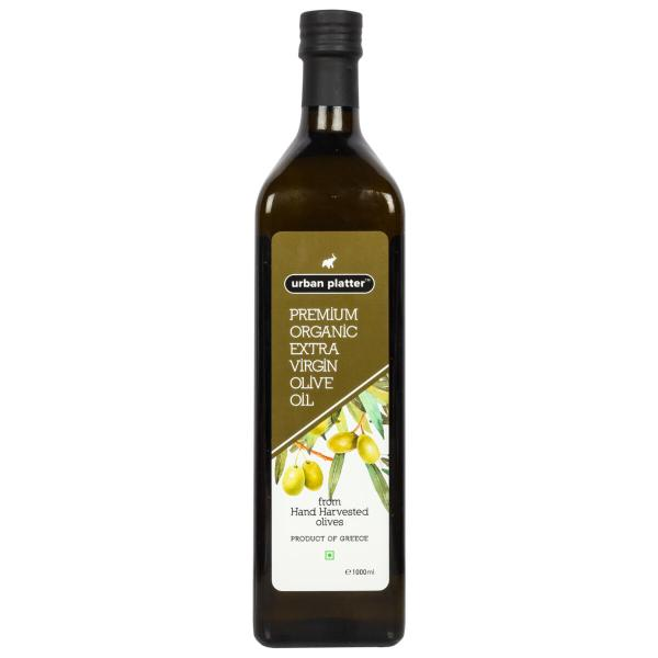 Urban Platter Premium Organic Extra Virgin Olive Oil, 1000ml [Hand Harvested Olives, Imported, Product Of Crete, Greece]