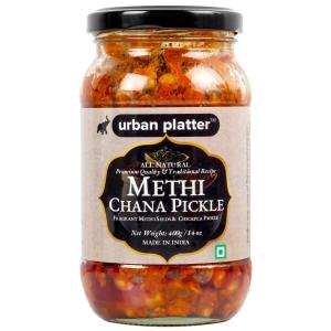 Urban Platter Methi Chana Pickle, 400g / 14oz [Methi Seeds & Chickpea Pickle, Traditional, Delicious]
