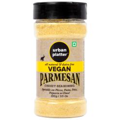 Urban Platter Vegan Parmesan Cheese Shaker Jar, 100g [Cheesy Seasoning, Dairy-Free, Not Milk Cheese]
