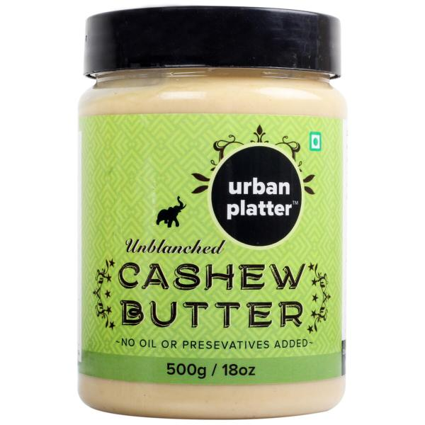 Urban Platter Cashew Butter, 500g [Unsweetened, No Hydrogenated oil, No preservatives]