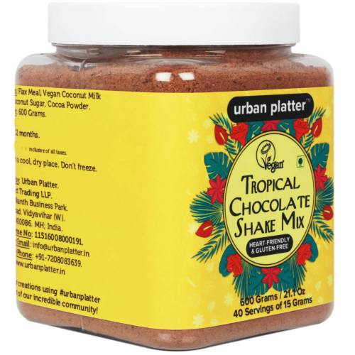 Urban Platter Tropical Chocolate Shake Mix, 600g [Heart-healthy, Vegan & Gluten-free]