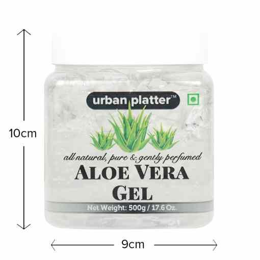 Urban Platter Aloe Vera Gel, 500g [All-natural, Pure & Gently Perfumed]