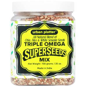 Urban Platter Triple Omega SuperSeeds Mix, 700g [All Natural Blend of Chia, Flax & White Sesame Seeds]