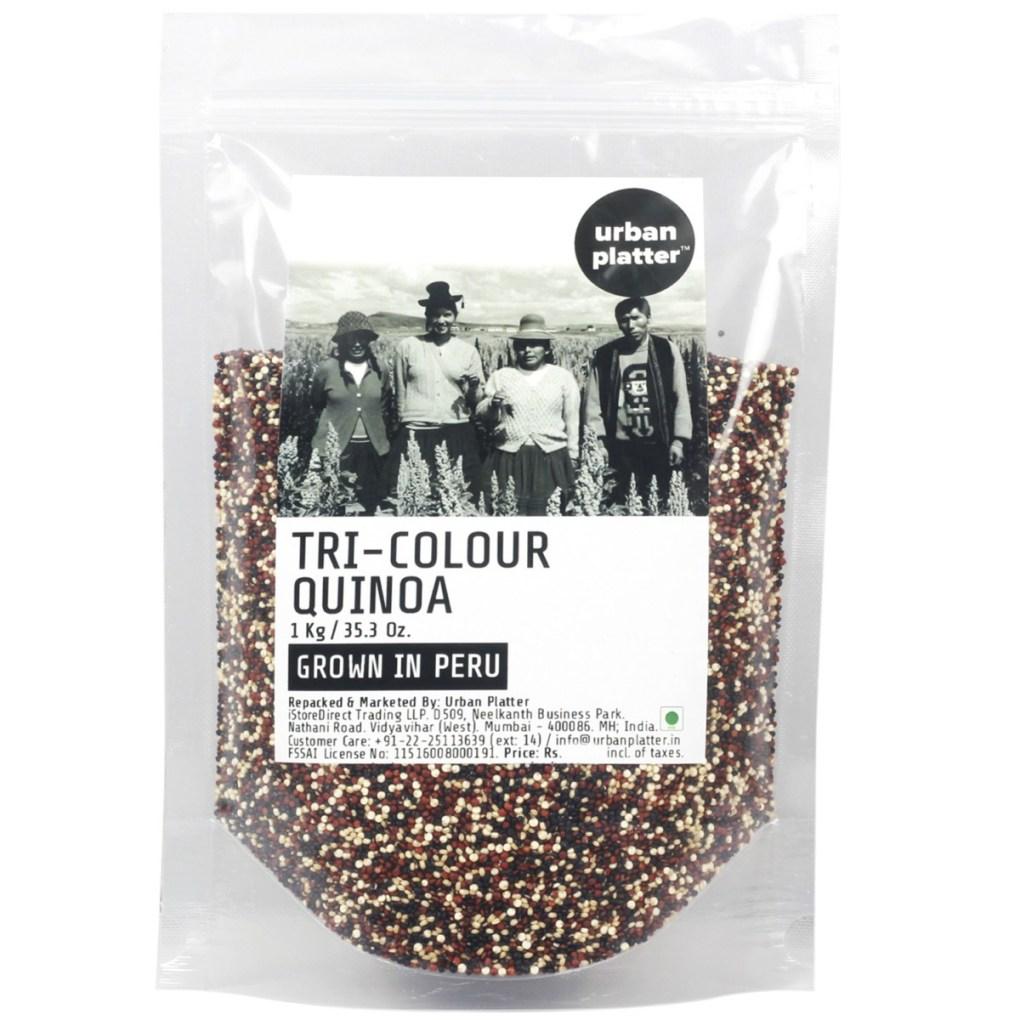 Urban Platter Tri-Colour Quinoa, 1kg [Grown in Peru]