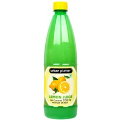 Urban Platter Lemon Juice Concentrate, 700ml [Equivalent of 70 Lemons!]