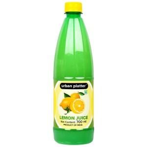 Urban Platter Lemon Juice Concentrate, 700ml [Equivalent of 70 Lemons!]