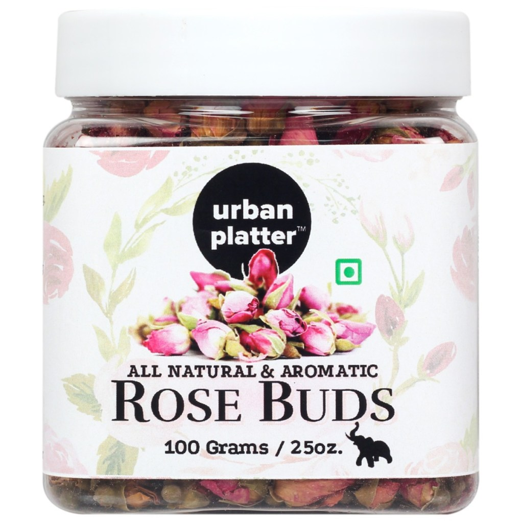 Urban Platter Dried Whole Rose Buds, 100g [All Natural & Aromatic]