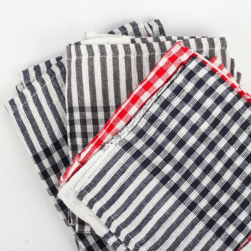 Urban Platter Multi-purpose Cotton Checks Kitchen Cleaning Cloth, Napkin, Table Wipe - 15x15 Inch, (Pack of 12)