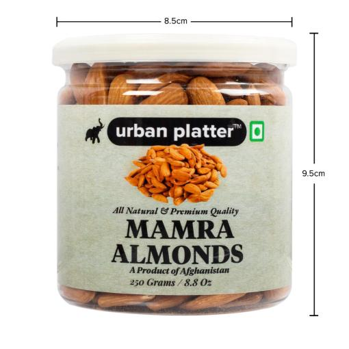 Urban Platter Bold Afghan Mamra Almonds, 250g