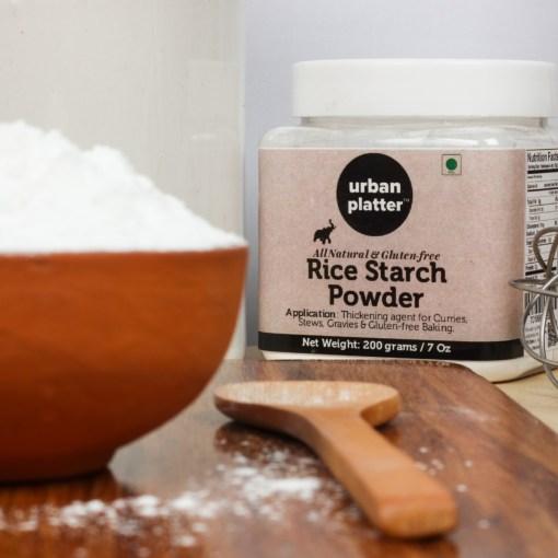Urban Platter Rice Starch Powder, 200g/7oz [All Natural and Gluten Free]