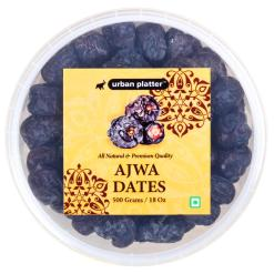 Urban Platter Ajwa Dates, 500g [All-natural, King of Dates, Premium Quality]