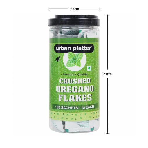 Urban Platter Crushed Oregano Flakes Seasoning Sachets, 100 Sachets (1g Each) [Perfect for Pizza, Parties, Office]