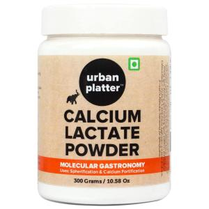 Urban Platter Calcium Lactate Powder, 300g / 10.6oz [Source of Calcium, Spherification, Bone Health]
