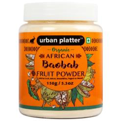 Urban Platter Organic African Baobab Fruit Powder, 150g / 5.3oz [Rich in Vitamin C, Tree of Life]