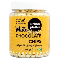 Urban Platter Pure White Chocolate Chips, 200g