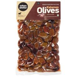 Urban Platter Greek Unpitted Kalamon Black Kalamata Olives, 500g
