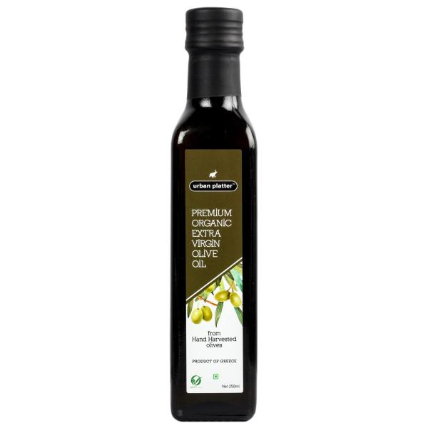 Urban Platter Premium Organic Extra Virgin Olive Oil, 250ml [Hand Harvested Olives, Imported, Product Of Crete, Greece]