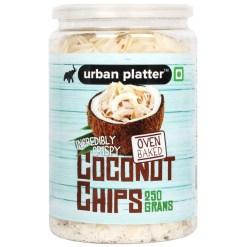 Urban Platter Coconut Chips, 250g / 8.8oz [Crispy, Oven Baked, Flavorful]