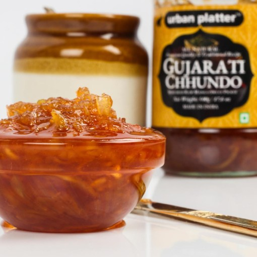 Urban Platter Gujarati Chhundo, 450g [Raw Mango Sweet Pickle]