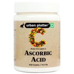 Urban Platter Ascorbic Acid, 400g / 14.11oz [Pure Vitamin C, Premium Quality, Dietary Supplement, Antioxidants]