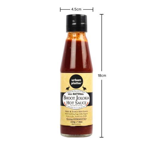 Urban Platter Bhoot Jolokia Hot Sauce, 220g / 7.8oz [Fiery & Tangy Hot Sauce, Signature Recipe of Assam]