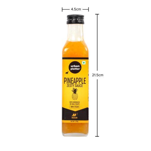 Urban Platter Pineapple Zesty Sauce, 275g / 9.7oz [Goodness of Real Fruit, Delicious & Vegan]