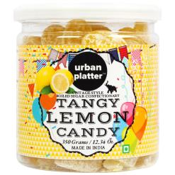 Urban Platter Tangy Lemon Candy, 350g / 12.34oz [Citrusy, Vintage-Style, Boiled Sugar Confectionery]
